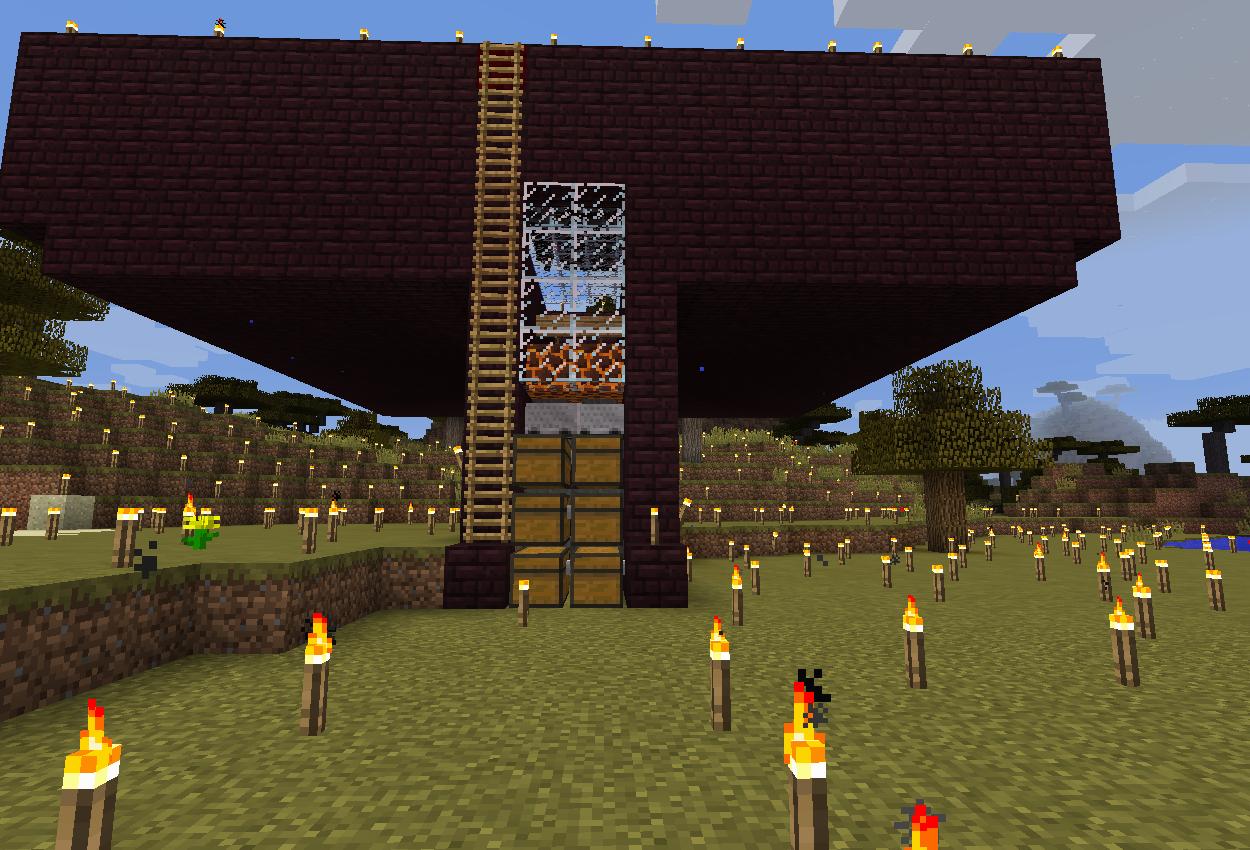 アイアンゴーレムトラップ(製鉄所)を作る