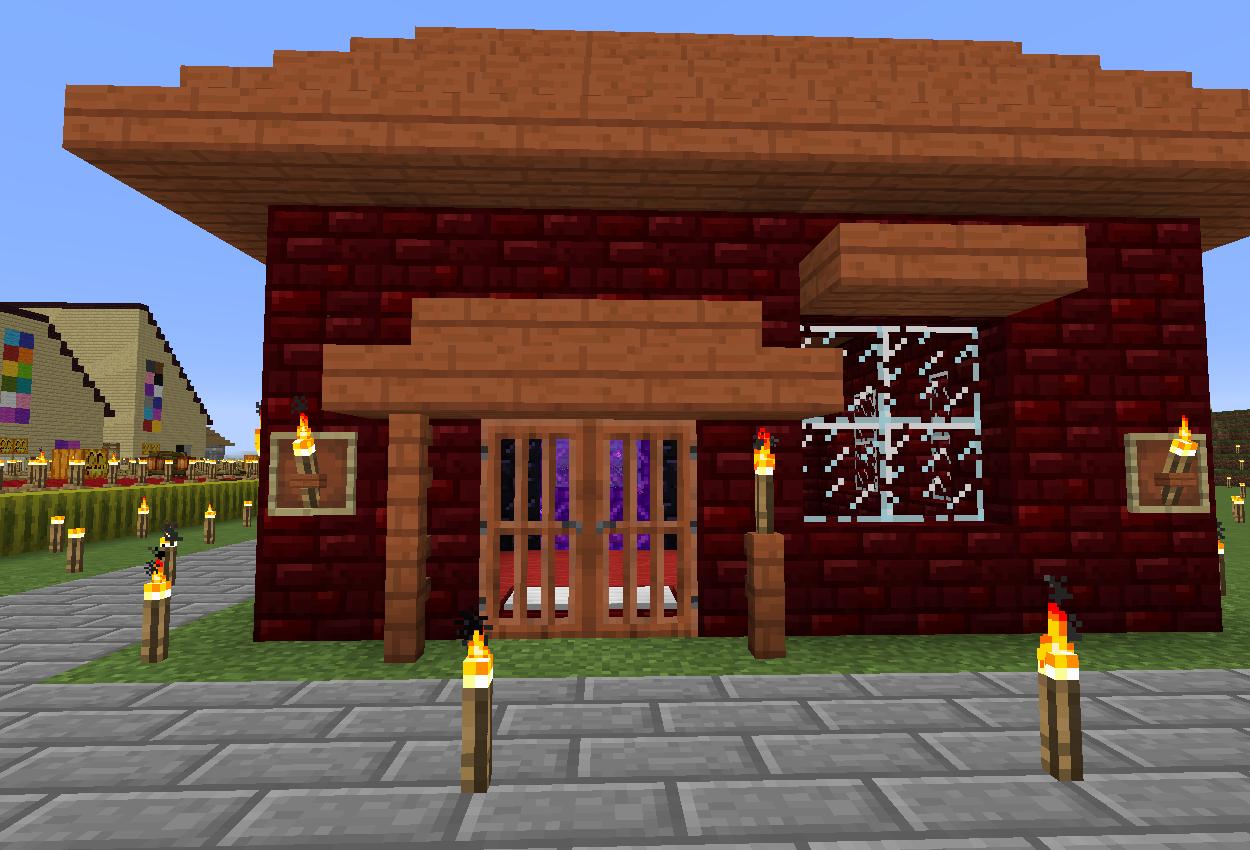 ネザー小屋作りました