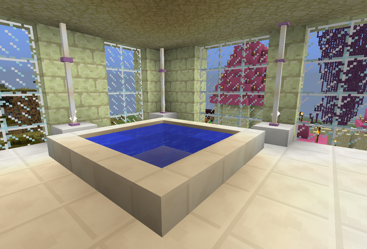 お城にバスルームを作る