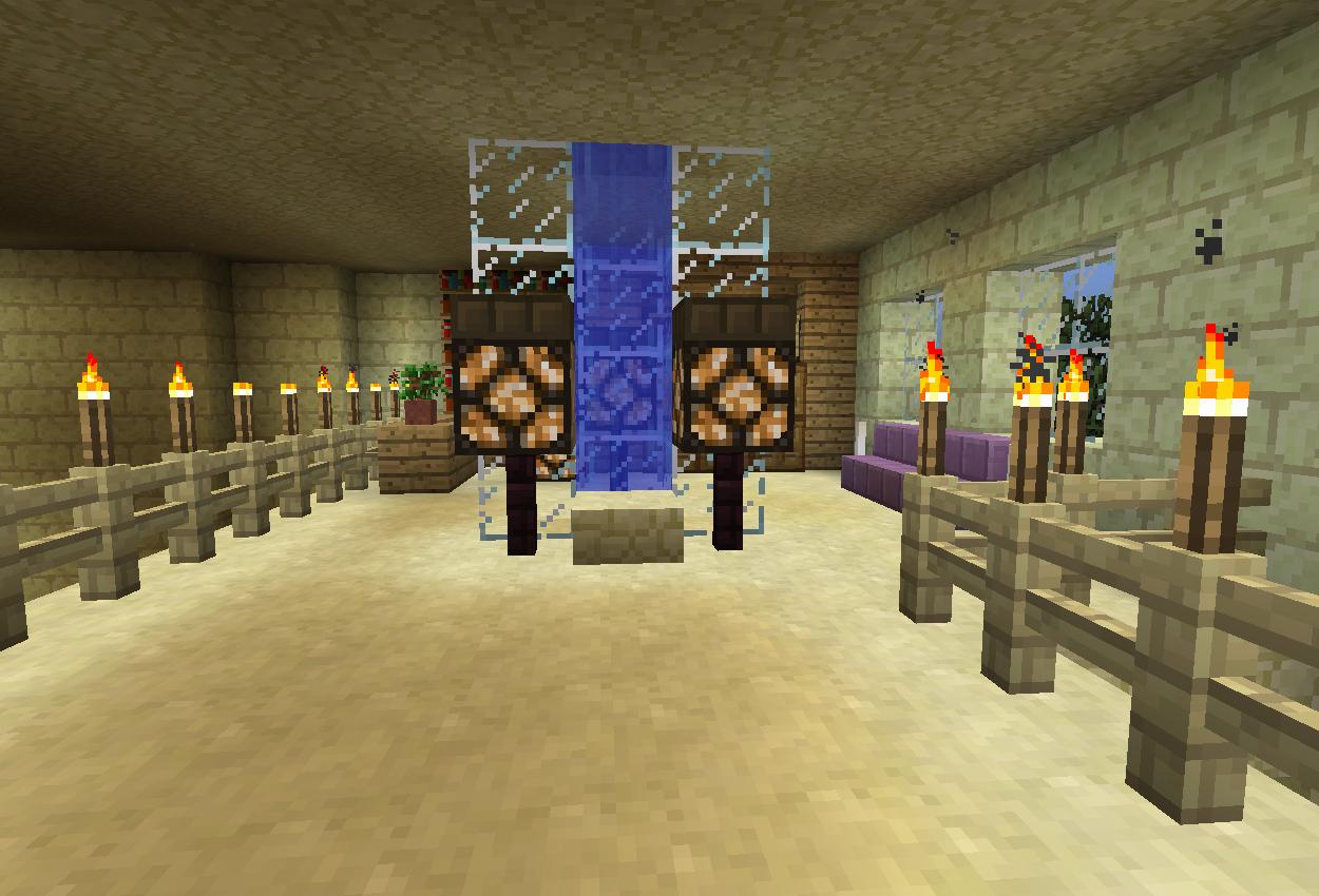 水柱のある休憩室を作る