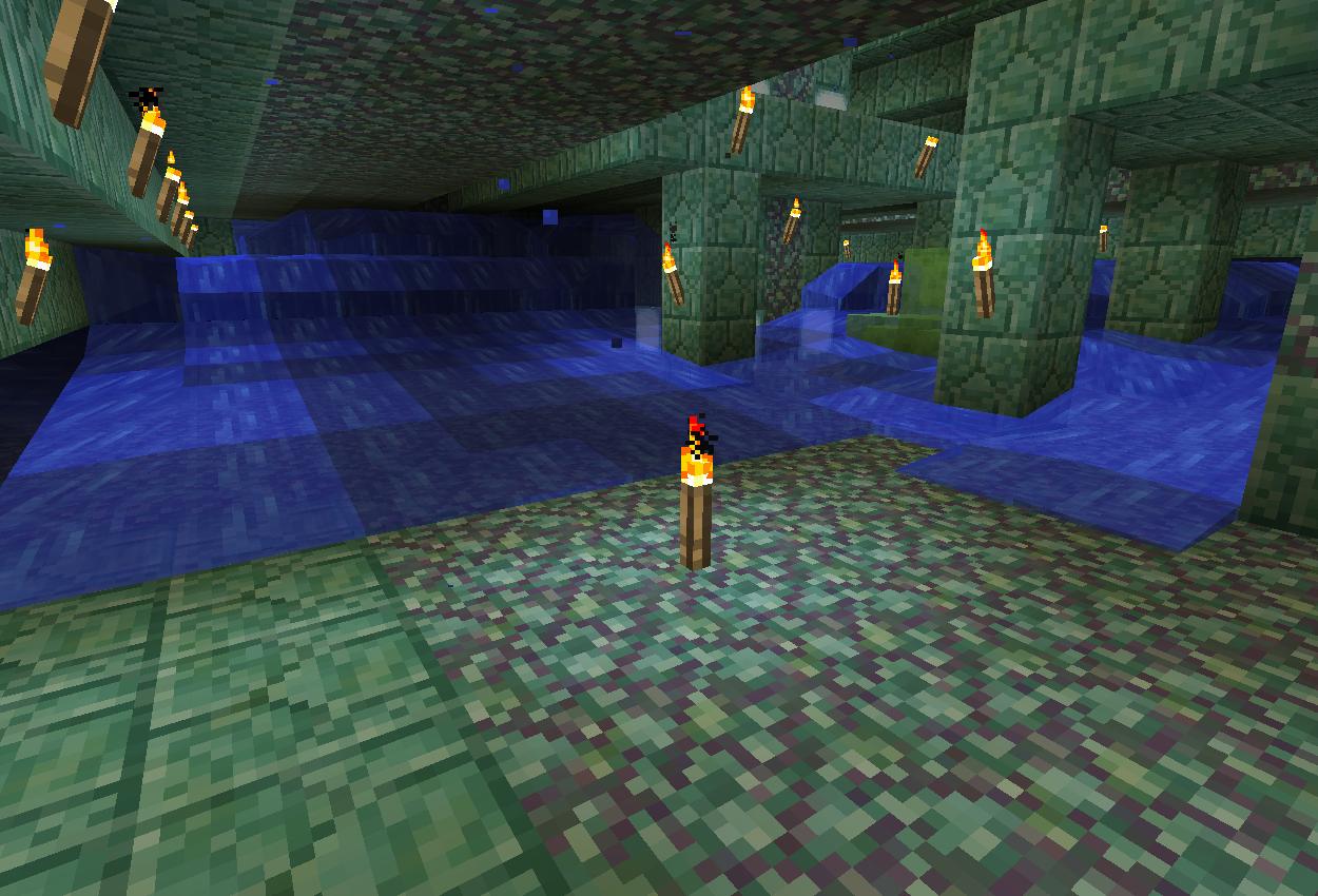 海底神殿内部を探検