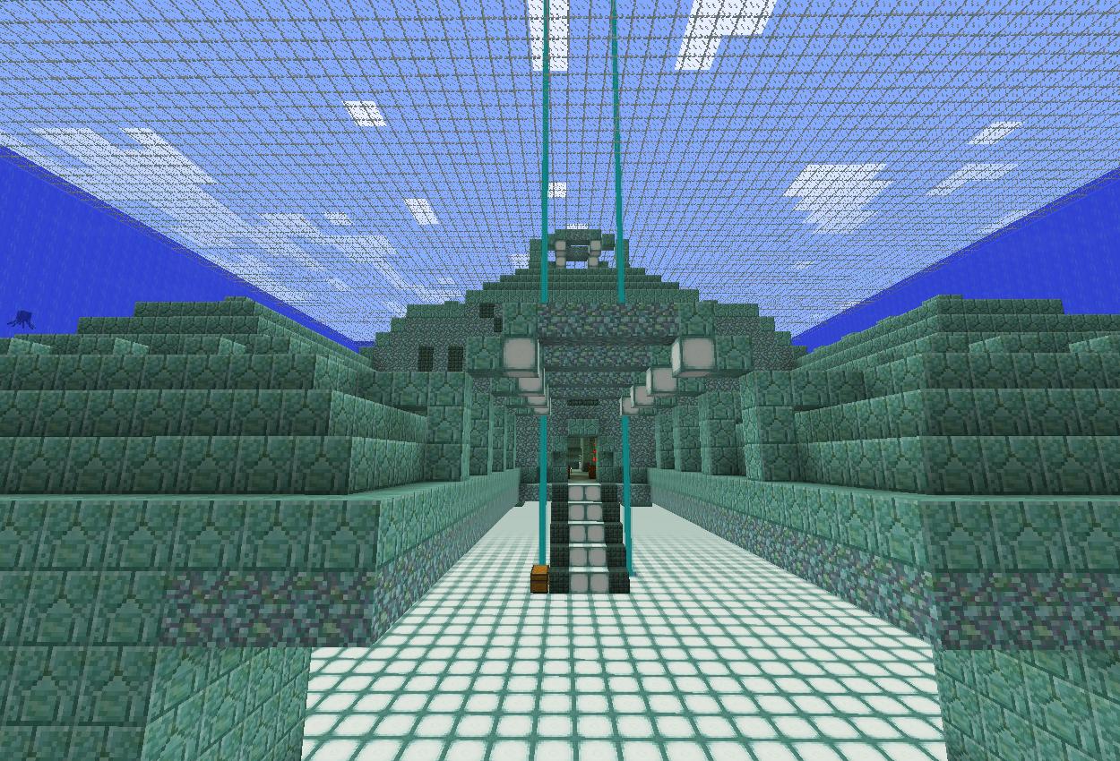 海底神殿拠点地下にビーコンを埋める