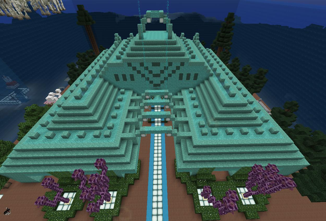 海底神殿の緑化
