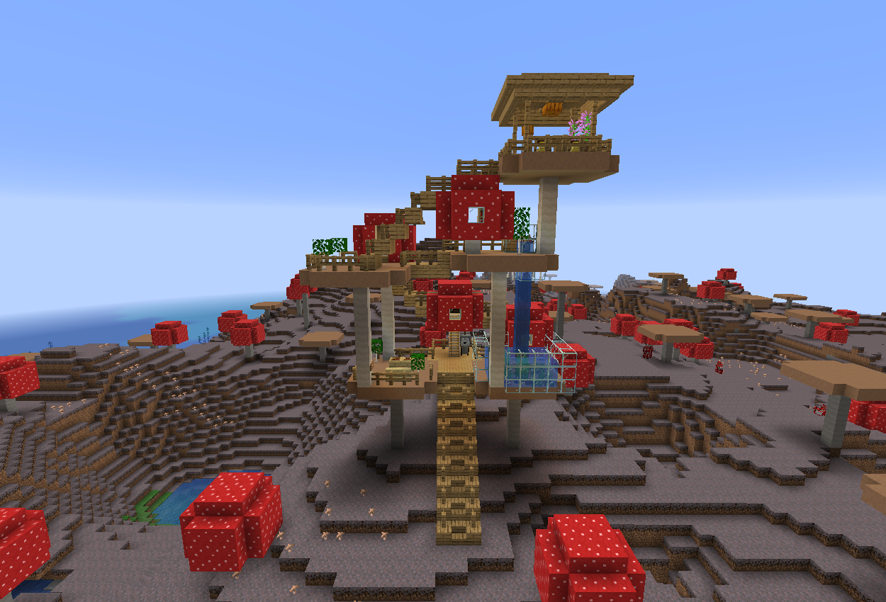 1.14スナップショットで巨大キノコのお家作ってみた