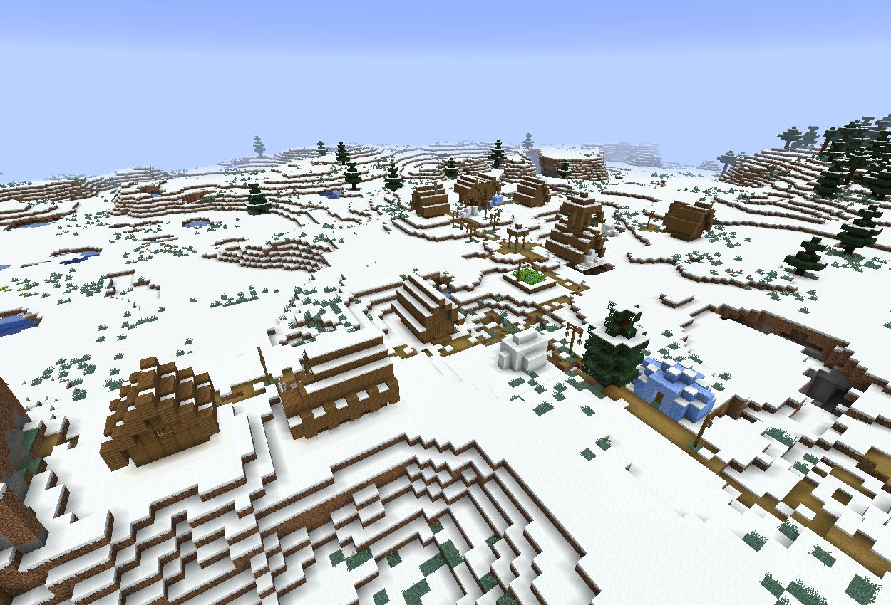 1.14スナップショット18w49a 新しい雪原の村!