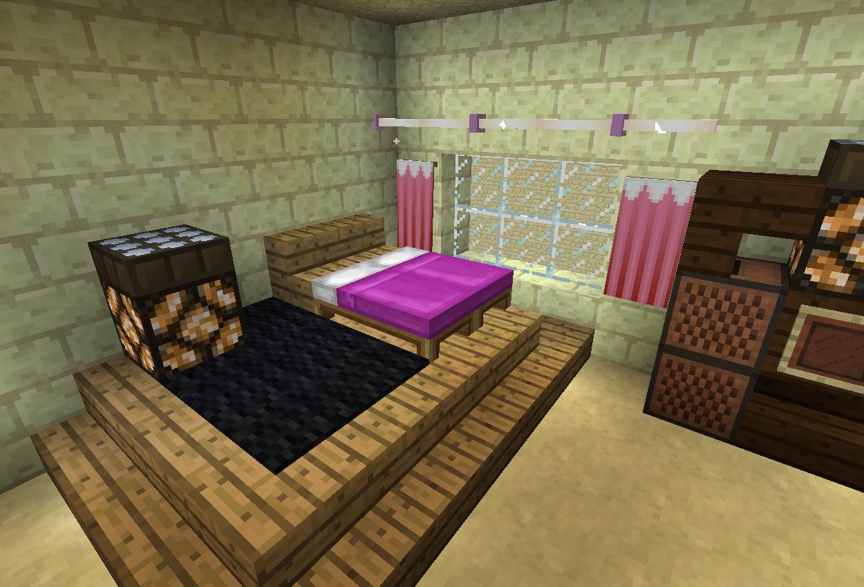 お城に寝室を作る