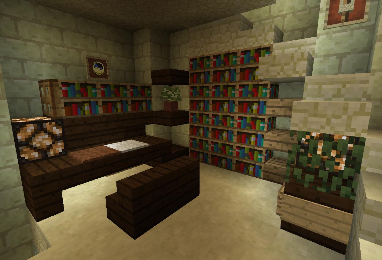 エンチャント部屋と書斎を作る