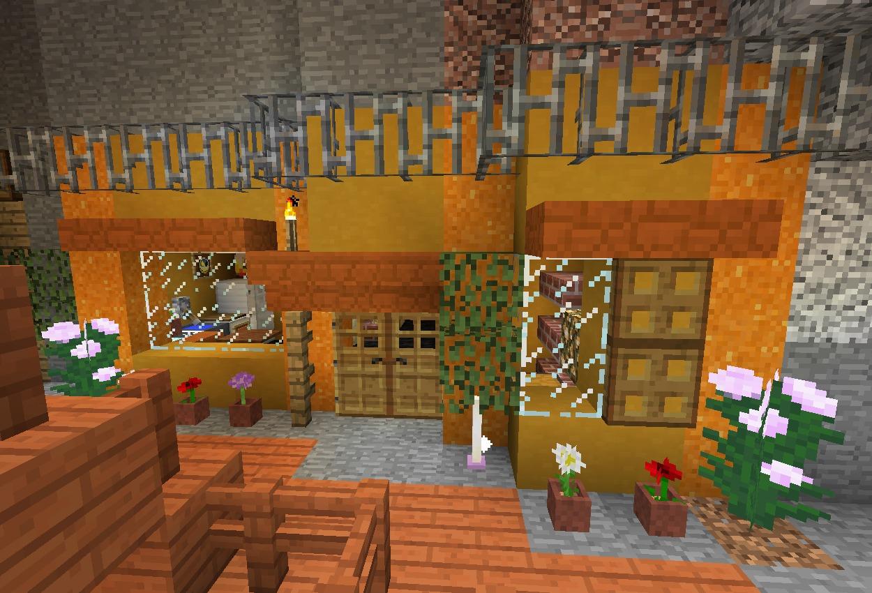 渓谷に町を作る – 一人暮らしっぽい民家