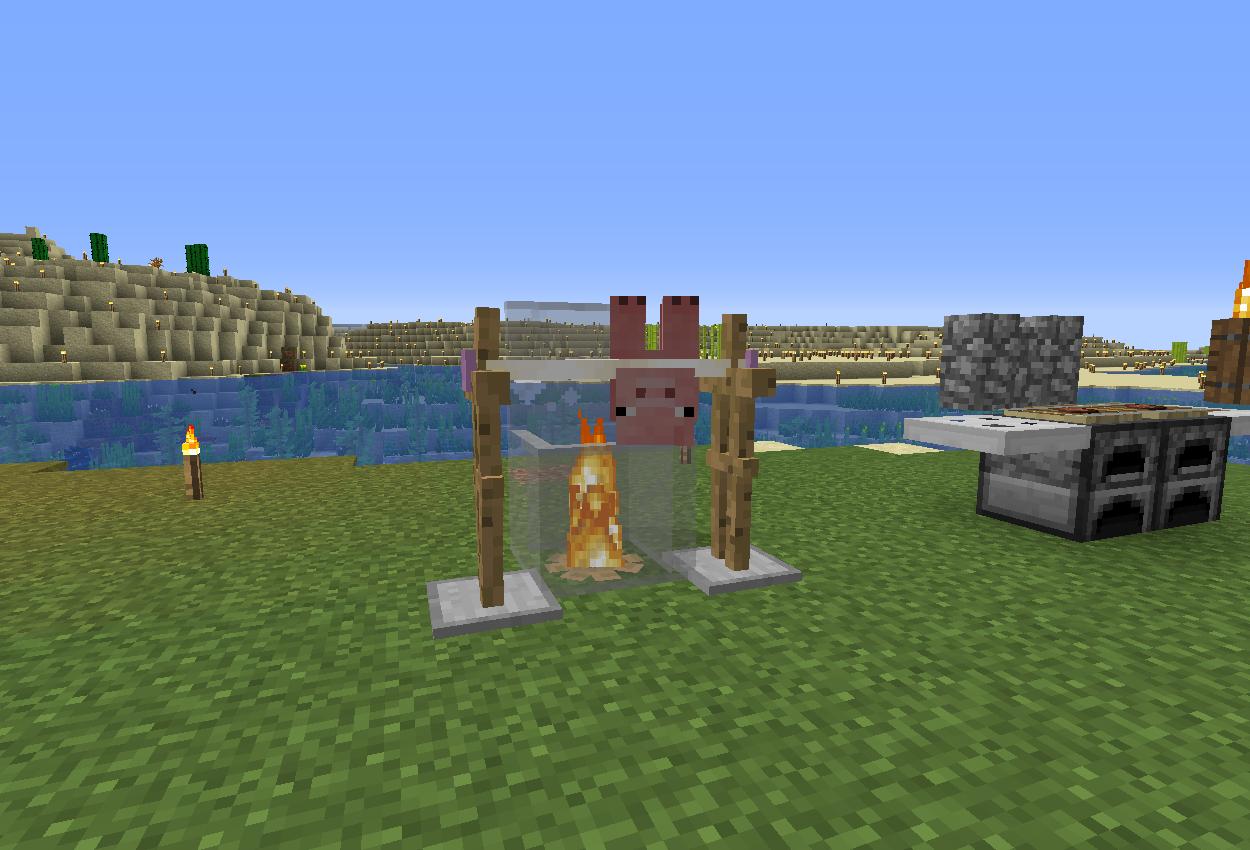 キャンプ場を作る~豚の丸焼き~