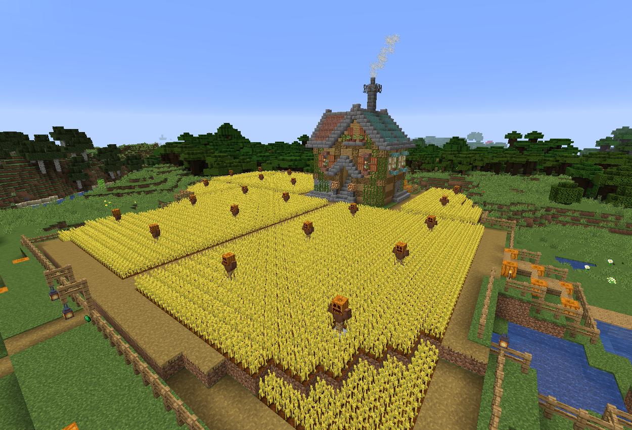 1.14スナップショットで草原に農家を作ってみた